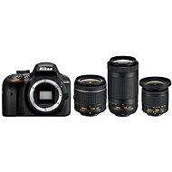 Nikon D3400 černý + 18-55mm VR + 70-300mm VR + 10-20mm VR