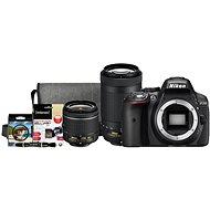 Nikon D5300 černý + 18-55mm AF-P VR + 70-300mm AF-P VR + Nikon Starter Kit