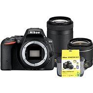 Nikon D5500 černý + 18-55mm AF-P VR + 70-300mm AF-P VR + Nikon Starter Kit