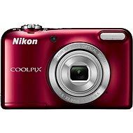 Nikon COOLPIX L31 červený + nabíječka + 2X AA baterie