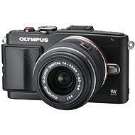 Olympus PEN E-PL6 + objektiv 14-42mm II R černý/černý + externí blesk