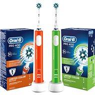 Oral-B Pro 400 Orange + Oral-B Pro 400 Green
