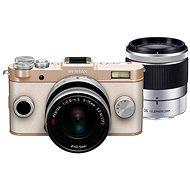 PENTAX RICOH Q-S1 zlatý + Standard Zoom 5 - 15mm černý + Telefoto Zoom 15 - 45mm