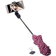 Papaler deštník vínový s puntíky