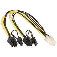 ANPIX kabel z PCIe 6pin(F) na 2x 6+2pin(M)