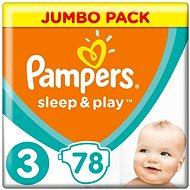PAMPERS Sleep&Play JP vel. 3 Midi (78 ks)