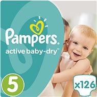 PAMPERS Active Baby-Dry vel. 5 Junior Mega Box Plus (126 ks)