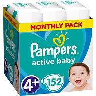 PAMPERS Active Baby-Dry vel. 4+ Maxi (152 ks) - měsíční balení