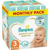 PAMPERS Premium Care vel. 3 Midi (204 ks)  - měsíční balení