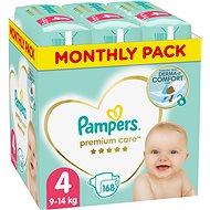 PAMPERS Premium Care vel. 4 Maxi (168 ks)  - měsíční balení