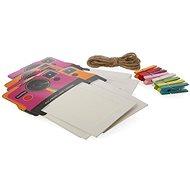 """Rámeček Polaroid na instantní fotografie 2x3"""" růžový/oranžový"""