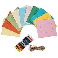 """Rámeček Polaroid čtvercový na instantní fotografie 2x3"""" barevný mix"""