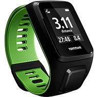 TomTom GPS hodinky Runner 3 Cardio + Music + Bluetooth sluchátka (L) černo-zelený