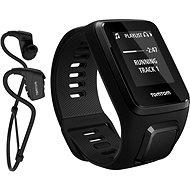 TomTom GPS hodinky Spark 3 Cardio + Music + Bluetooth sluchátka (L) černý