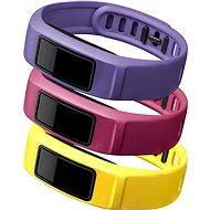 Řemínky pro vivofit2 : canary, pink, violet (velký průměr)
