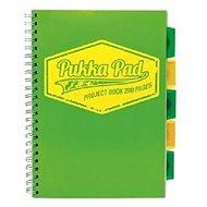 PUKKA PAD Project Book Neon A4 čtverečkovaný, zelený