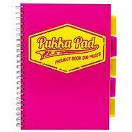 PUKKA PAD Project Book Neon A4 čtverečkovaný, růžový