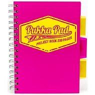 PUKKA PAD Project Book Neon A5 čtverečkovaný, růžový