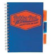 PUKKA PAD Project Book Neon A5 čtverečkovaný, modrý