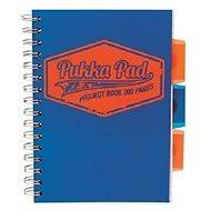 PUKKA PAD Project Book Neon A5 linkovaný, modrý