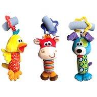 Playgro Cestovní závěsné hračky 3 ks