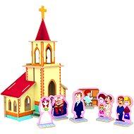 Dřevěné 3D Puzzle - Svatba