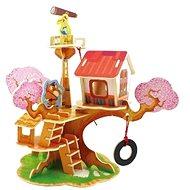 Dřevěné 3D Puzzle - Domeček na stromě