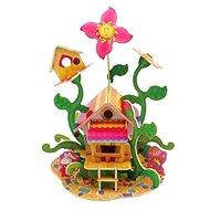 Dřevěné 3D Puzzle - Květinový domeček