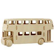 Dřevěné 3D Puzzle - Patrový autobus