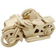 Dřevěné 3D Puzzle - Motorka tříkolka