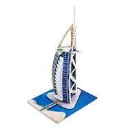 Dřevěné 3D Puzzle - Hotel Burjal Arab v Dubai