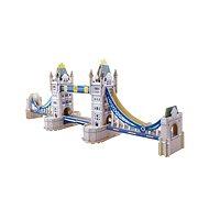 Dřevěné 3D Puzzle - Tower bridge barevný
