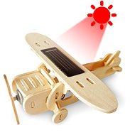 Dřevěné 3D Puzzle - Solární letadlo Jednoplošník