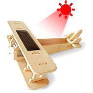 Dřevěné 3D Puzzle - Solární letadlo Dvojplošník
