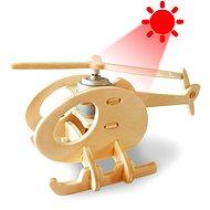 Dřevěné 3D Puzzle - Solární vrtulník