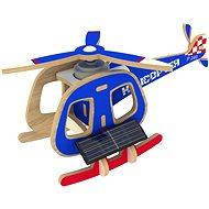Dřevěné 3D Puzzle - Solární vrtulník barevný