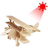Dřevěné 3D Puzzle - Solární letadlo Trojplošník
