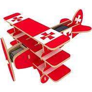 Dřevěné 3D Puzzle - Solární letadlo Trojplošník barevné