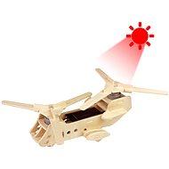 Dřevěné 3D Puzzle - Solární vojenský vrtulník CH47