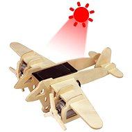 Dřevěné 3D Puzzle - Vojenské solární letadlo Bombardér