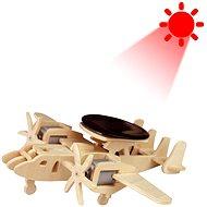 Dřevěné 3D Puzzle - Vojenské solární letadlo s radarem