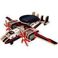Dřevěné 3D Puzzle - Vojenské solární letadlo s radarem barevné