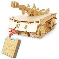 Dřevěné 3D Puzzle - Tank na dálkové ovládání
