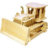 Dřevěné 3D Puzzle - Buldozer na dálkové ovládání