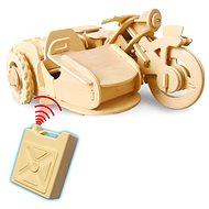 Dřevěné 3D Puzzle - Motorka na dálkové ovládání