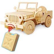 Dřevěné 3D Puzzle - Jeep na dálkové ovládání