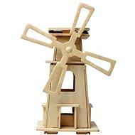 Dřevěné 3D Puzzle - Solární větrný mlýn III