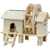Dřevěné 3D Puzzle - Vodní mlýn