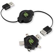RETRAK computer USB typ A/ USB - Universal hvězda 4in1, 1m
