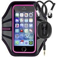 RETRAK Sport Armband Large růžové + sportovní sluchátka do uší
